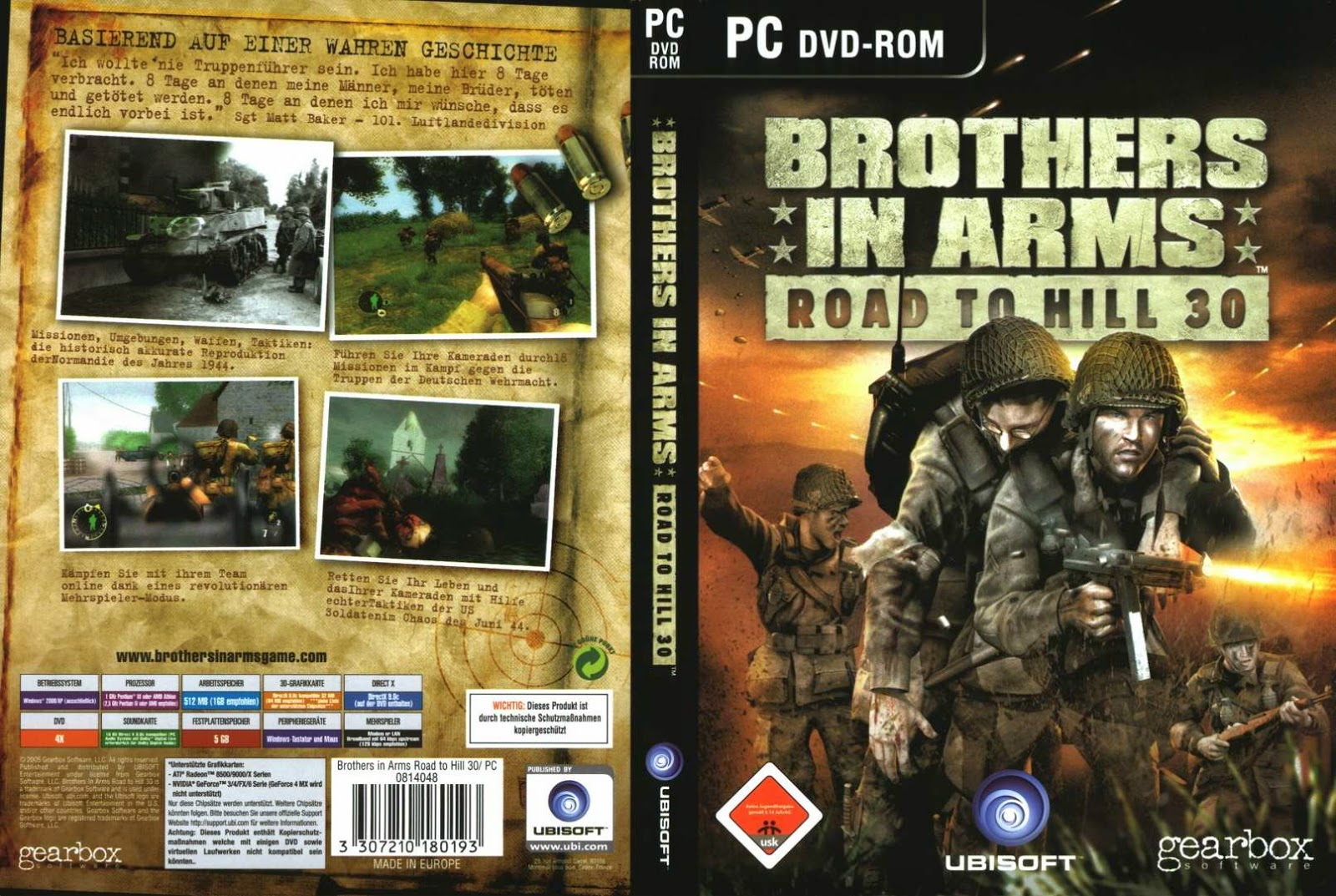 brothers in arms earned in blood iso