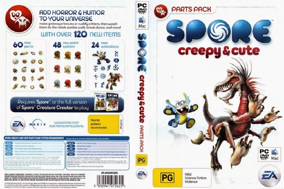 Spore Creepy And Cute Parts Pack free download